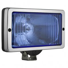 Svetlo hranaté diaľkové 241 x 135 chróm / blue
