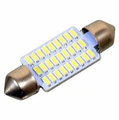 27 LED žiarovka sulfit biela 38 mm 1 ks