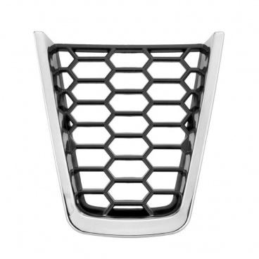 Plaketka volantu RS honeycomb chrome - KI-R pro seřízlý sportovní volant - Škoda Superb III