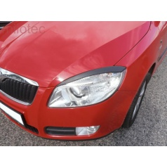 Kryty svetlometov Milotec (mračítka) ABS čierny Škoda Roomster, Fabia II