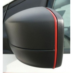 Desig lišta spätných zrkadiel - červená Škoda Octavia II Facelift, Superb II, Octavia III, Rapid, Citigo, Yeti, Fabia III, Superb III