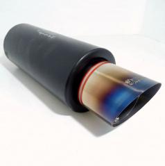 Športový výfuk nerez WM šport, šikmá koncovka 100 mm color