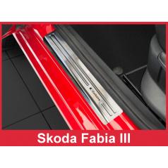 Nerez ochranné lišty prahu dverí 4ks Škoda Fabia III 2014-16