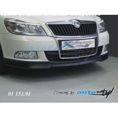 Podspoiler predného nárazníka - čierný dezén Škoda Octavia II facelift