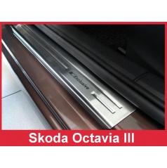 Nerez ochranné lišty prahu dverí 4ks Škoda Octavia III 2013-16