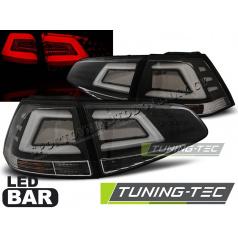 VW Golf 7 2013- zadní lampy black LED BAR (LDVW04)