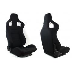 Športové polohovateľné sedačky látkove A1 Racing Glock čierne
