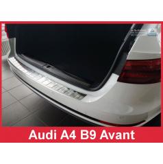 Nerez kryt- ochrana prahu zadného nárazníka Audi A4 B9 Avant 2015-16