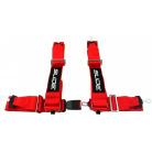 4-bodové 75 mm bezpečností pásy SLIDE Barva: červená