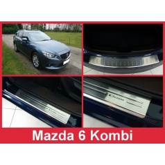 Nerez kryt- sestava-ochrana prahu zadního nárazníku+ochranné lišty prahu dveří Mazda 6 kombi 2012-16