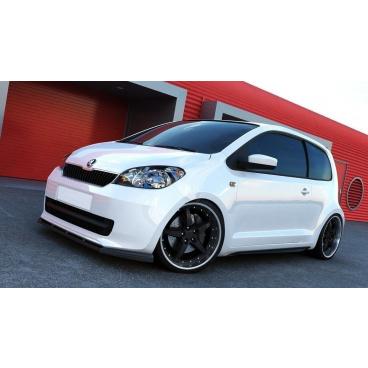 Spoiler pod predný nárazník pre Škoda Citigo, Maxton Design (Carbon-Look)