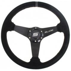 Športový volant WRC SLIDE II čierny (semiš poťah) 350 mm