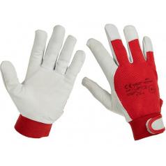 Pracovní rukavice z pravé kůže/látka vel. 10