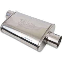 Športové stredný alebo zadný diel výfuku Flowmonster Ovál 76 mm