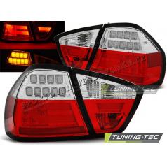 BMW E90 03.2005-08.2008 zadné LED lampy red white BAR (LDBM72)