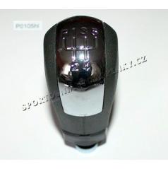 Hlavica radiacej páky čierna, chróm 5-rýchl. Škoda Octavia I, II, Fabia, Superb