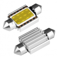 1  EXTRA COB LED žárovky sulfit bílé 36 mm s odporem CANBUS 2 ks