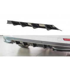 Vložka zadného nárazníka pre Škoda Superb Mk3 FL Facelift, Maxton Design (čierny lesklý plast ABS)