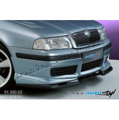 Škoda Octavia 2001 spoiler pod predný spoiler - čierný dezén