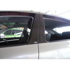 Kryty dverových stĺpikov - ABS čierna metalíza Škoda Octavia II Lim., Škoda Octavia II Facelift Lim.