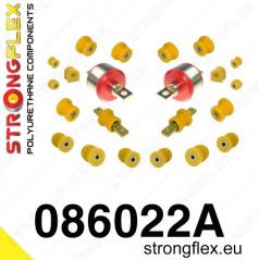 Honda CRX 1992-97 StrongFlex Sport sestava silentbloků jen pro zadní nápravu 22 ks