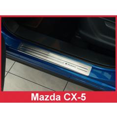 Nerez ochranné lišty prahu dveří 4ks Mazda CX-5 2008-17