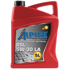 Motorový syntetický olej Alpine RSL 5W-30 LA