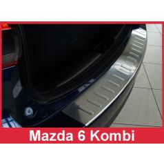 Nerez kryt-ochrana prahu zadního nárazníku Mazda 6 Kombi 2012-16