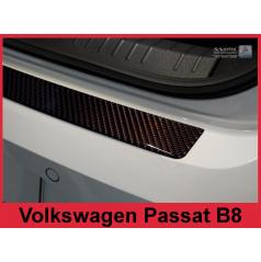 Carbon kryt ochrana prahu zadného nárazníka Volkswagen Passat B8 2014+