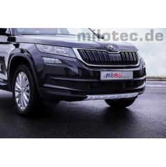 Strieborná ochranná lišta predného nárazníka Škoda Kodiaq