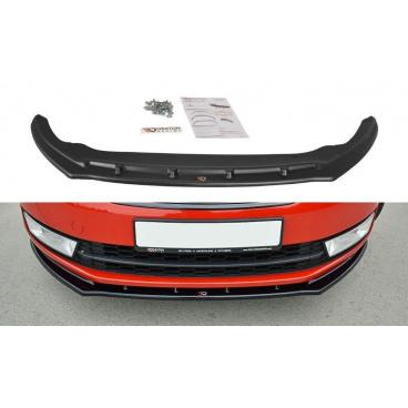 Spoiler pod predný nárazník ver.2 pre Škoda Rapid, Maxton Design (Carbon-Look)