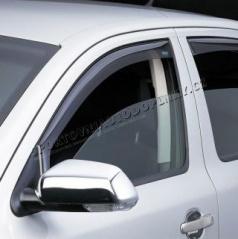 Veterné clony - ofuky okien (deflektory, plexi), Škoda Rapid, 5 dver., 2012+, predné + zadné