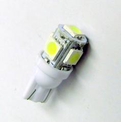 5 SMD LED žiarovka T10W2 biele - 1 ks