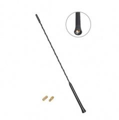 Anténny prút čierny priemer závitu 5 a 6 mm