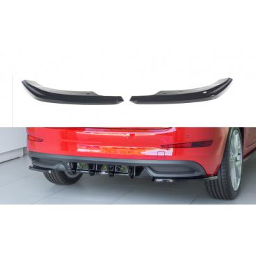 Bočné difúzory pod zadný nárazník pre Škoda Scala, Maxton Design (Carbon-Look)