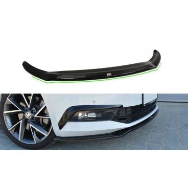 Spoiler pod predný nárazník ver.2 pre Škoda Superb Mk3, Maxton Design (Carbon-Look)