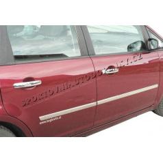 Ford C-Max 03-08 - nerez chróm bočné ochranné lišty dverí - Omsa Line