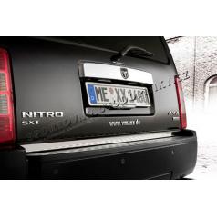Dodge Nitro - nerez chróm spodná lišta zadného kufra - Omsa Line