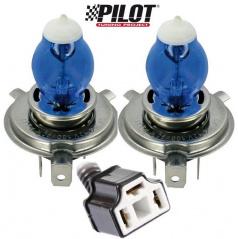Žiarovky H4 100W Pilot Xenium Race - 2 ks + navyše 2 parkovacie žiarovky