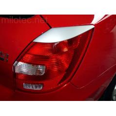 Kryty zadných svetiel Milotec ABS strieborné Škoda Fabia II