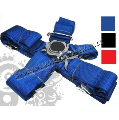 5-bodové bezpečnostné pásy CAM LOCK 75 mm modré