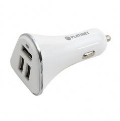 USB nabíjačka 3xUSB 5,2A + microUSB kábel 1m WHITE
