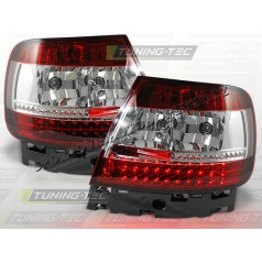 AUDI A4 (B5) 1994-00 zadné LED lampy RED WHITE (LDAU25)