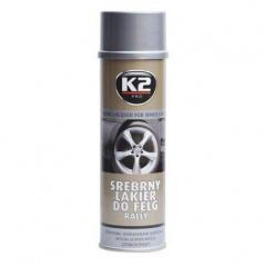 K2 strieborný lak na kolesá 500 ml