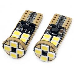 Žiarovka 12 SMD LED T10 (W5W) 12V / 24V biela CAN-BUS