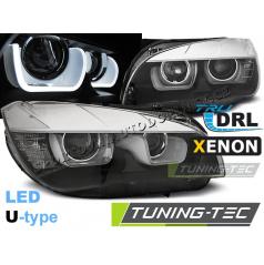 BMW X1 E84 08.2012-01.2014 predné číre svetlá Tube Light black (LPBME6)