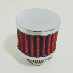 Športový oddychový filter, červený 25 mm