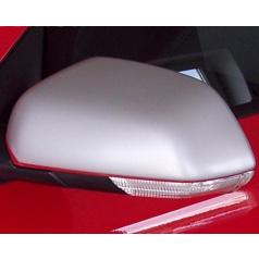 Kryty zrkadiel Milotec - ABS strieborné matné, Škoda Octavia II