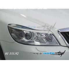Škoda Octavia II facelift - mračítka predných svetiel - pre lak