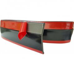 Univerzálny spodný pružný lip s podlepením čierny s červenou linkou